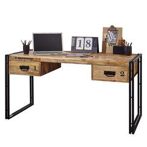 Schreibtisch Iron - Mango massiv / Eisen, Wolf Möbel