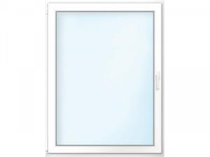 """Wärmeschutz-Fenster """"76/3"""", 60x100 cm, weiß, Anschlag links"""
