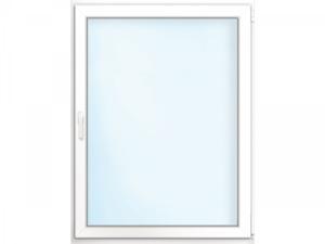 """Wärmeschutz-Fenster """"76/3"""", 90x100 cm, weiß, Anschlag rechts"""