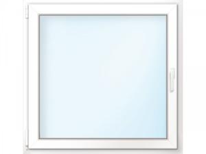 """Wärmeschutz-Fenster """"76/3"""", 100x110 cm, weiß, Anschlag links"""