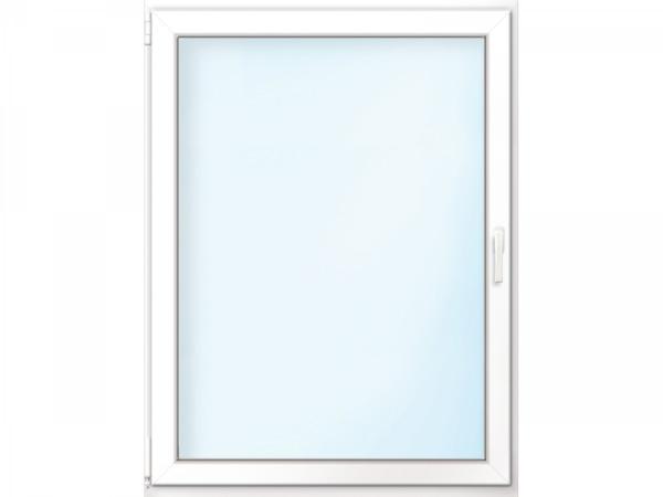 """Wärmeschutz-Fenster """"76/3"""", 100x120 cm, weiß, Anschlag links"""