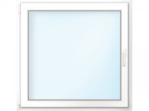 """Wärmeschutz-Fenster """"76/3"""", 90x90 cm, weiß, Anschlag links"""