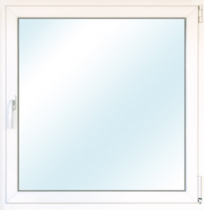 """Wärmeschutz-Fenster """"76/3"""", 90x90 cm, weiß, Anschlag rechts"""