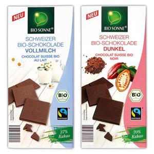 Bio Sonne Bio-Schweizer Tafelschokolade