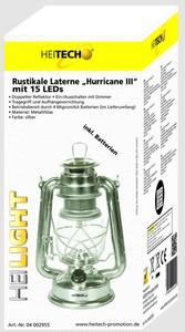 Heitech Rustikale Laterne HurricaneIII, silber