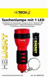 Heitech Taschenlampe mit 1 LED
