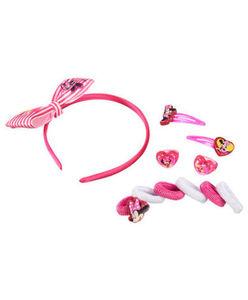 Minnie Mouse - Haarschmuckset - Haarschmuck + Ringe - 11-tlg. Set