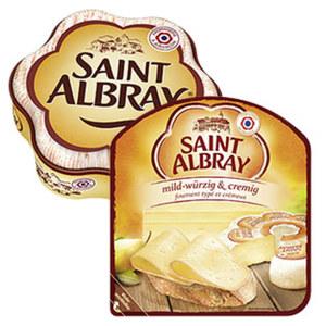 Saint Albray Französischer Weichkäse oder Schnittkäse Scheiben, 60 % Fett i. Tr./12 % Fett absolut,  versch. Sorten, jede 180/130-g-Packung