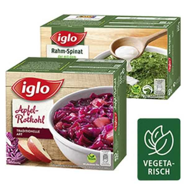 Iglo Apfel Rotkohl Minis gefroren, jede 450-g-Packung und weitere Sorten