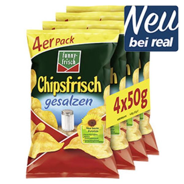 Funny Frisch Chipsfrisch ungarisch oder gesalzen jede 4 x 50-g-Multipack