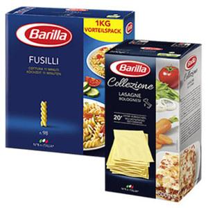 Barilla Italienische Pasta aus 100 % Hartweizen oder La Collezione versch. Sorten, jede 500/1000-g-Packung