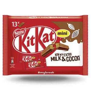 Kitkat-, Lion oder Smarties Minis jeder 217/234/187-g-Beutel