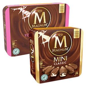 Langnese Magnum Mini Classic 6er oder Magnum Yoghurt Fresh  4er jede 360/440-ml-Multipackung und weitere Sorten