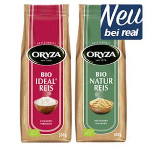 Oryza Bio Reis versch. Sorten jeder 500g-Beutel