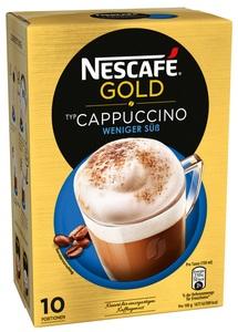 Nescafé Gold Typ Cappuccino Weniger Süß 10x 12,5 g