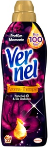 Vernel Aroma-Therapie Patschuli-Öl & lila Orchidee Weichspüler 1L 33 WL