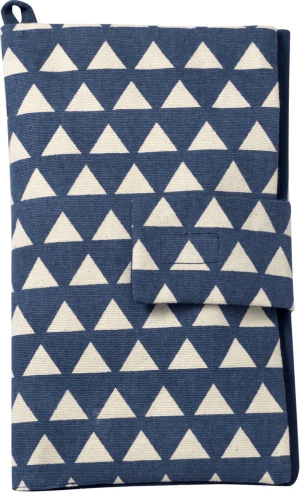 ALANA Windeltasche in Dreieck-Design, in Bio-Baumwolle, mit Klettverschluss, blau, weiß