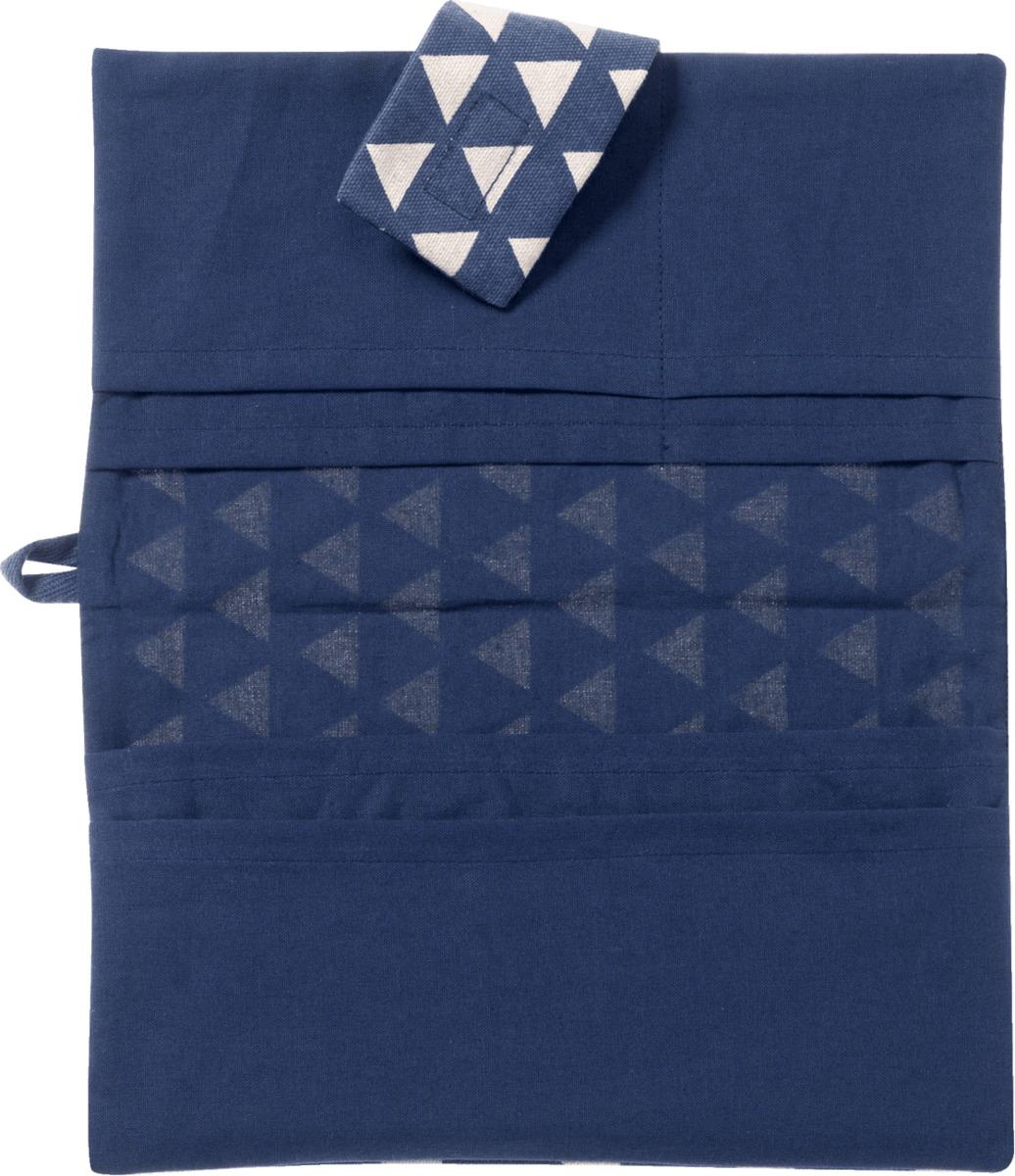 Bild 2 von ALANA Windeltasche in Dreieck-Design, in Bio-Baumwolle, mit Klettverschluss, blau, weiß