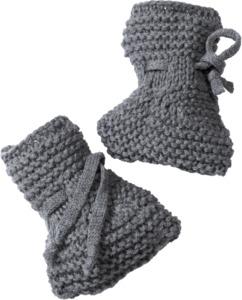 ALANA Baby-Wollschuhe, grau, für Mädchen und Jungen