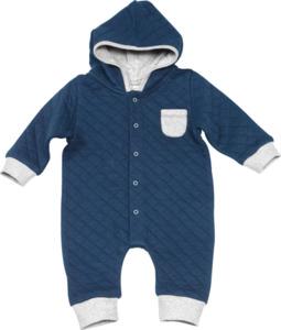 ALANA Baby-Kapuzenoverall, Gr. 68, in Bio-Baumwolle und recyceltem Polyester, marine, für Mädchen und Jungen
