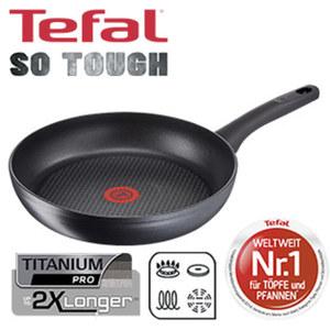 "Serie ""SO TOUGH"" - widerstandsfähige TEFAL-Titanium Pro®- Antihaft-Versiegelung - starker, langlebiger Induktionsboden für perfekte Hitzeverteilung - verstärkter Rand für zusätzliche Stabil"