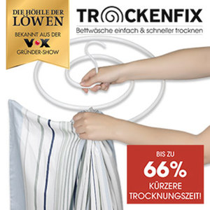 Trockenfix Wäschebügel - Bettwäsche einfach & schnell trocknen - inkl. Montagematerial für die Decke, je