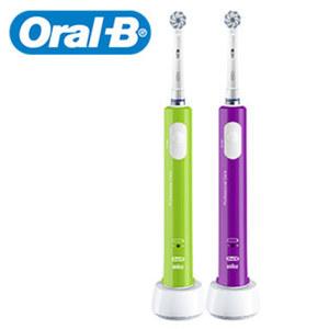 Zahnbürste Junior · oszillierend/rotierendes 3-D-Putzsystem · Putzhilfe: 4 x 30 Sekunden · Andruckkontrolle · 1 Sensi-Ultrathin-Aufsteckbürste · Farben: Purple oder Green, je