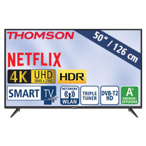 "50""-Ultra-HD-LED-TV 50UD6306 • HbbTV, H.265, HDR, Dual-Core • 3 HDMI-/2 USB-Anschlüsse, CI+ • Stand-by: 0,26 Watt, Betrieb: 71 Watt • Maße: H 66,0 x B 113,1 x T 7,8 cm • Energie-Effizie"