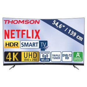 "55""-Curved-Ultra-HD-LED-TV 55UD6696 • HbbTV, H.265, HDR, Dual-Core • 3 HDMI-/2 USB-Anschlüsse, CI+ • Stand-by: 0,17 Watt, Betrieb: 86 Watt • Maße: H 73,9 x B 123,0 x T 9,4 cm • Energie-"