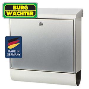 Edelstahl-Briefkasten Inoxstar 4710 NI mit Zeitungsfach, Maße: H 395 x B 380 x T 115 mm