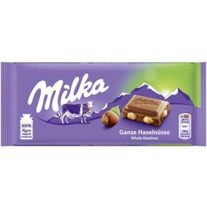 Milka Alpenmilchschokolade Ganze Haselnüsse 0.99 EUR/100 g