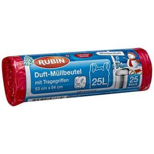 RUBIN Duft-Müllbeutel Winterduft mit Tragegriffen 25 l
