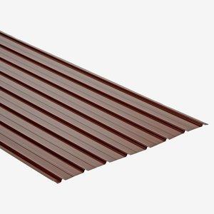 Trapezblech Stahl verzinkt beschichtet mahagonifarben 200 x 93 cm
