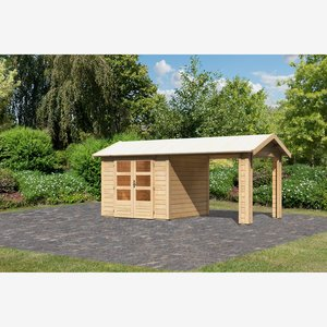 Karibu Gartenhaus Mylau 3 inkl. Dachanbau naturbelassen