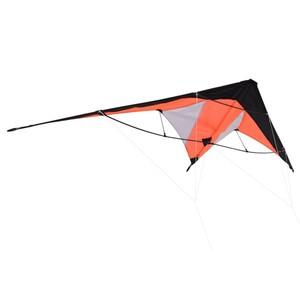 Lenkdrache im orangenen Design mit 2 Schnüre und Tasche