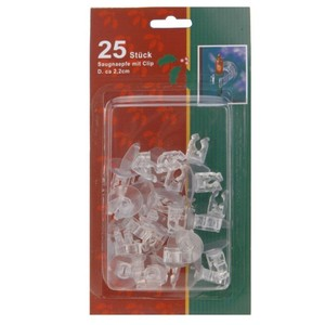 Saugnapf-Set 25-teilig transparent Clip
