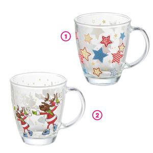 Glas Tasse mit Wintermotiv