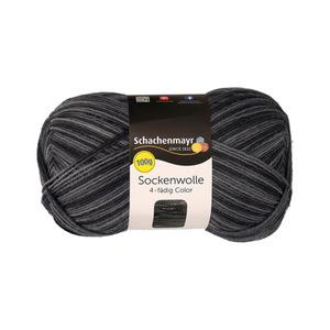 """Schachenmayr Sockenwolle """"Color"""" in Anthrazit 100 g"""