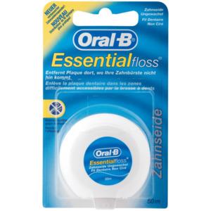 Oral-B Essential Floss Zahnseide ungewachst 50m