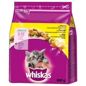Whiskas Katzenfutter Trocken Junior mit Huhn 800g
