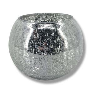 Windlichtglas - silber - 15 cm