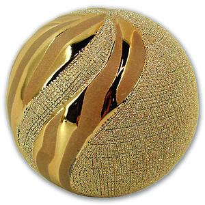Deko-Kugel - gold - Keramik - 10 cm