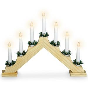 LED-Kerzenbrücke - 7 Kerzen - 30 cm hoch