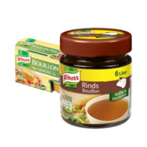 Knorr Bouillon, Bouillon Pur oder Brühe