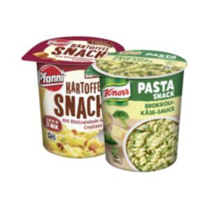 Knorr Pasta-Snack, Reis-Snack,Suppensnack oder Pfanni Kartoffel-Snack