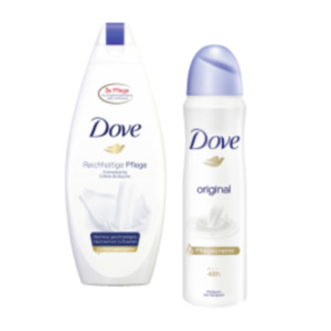 Dove Deo Spray, Roll-On oder Pflegeduschgel
