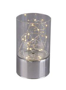 LED Säule - klein - silber, klar