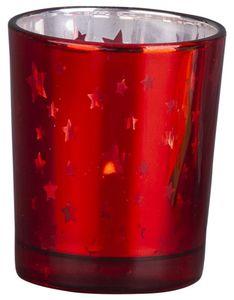 Teelichtglas - Sterne - 5,5 x 6,5 cm