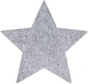 Platzset - Stern - aus Filz - Ø = 35 cm - grau