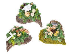 Urnen-Grabgesteck Herz